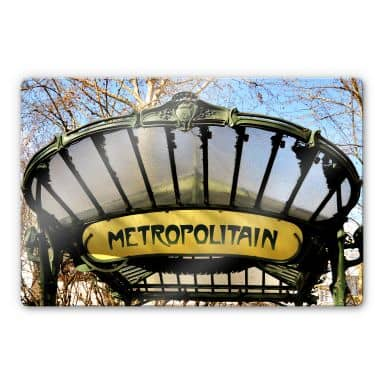 Glasbild Le Métro