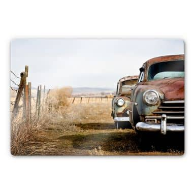 Old Rusted Cars Glass art