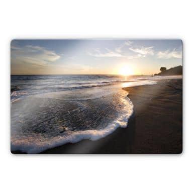 Solnedgang til søs -Glaskunst