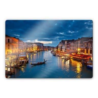 Glasbild Canal Grande in Venedig