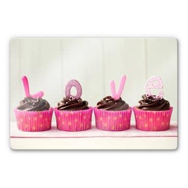 Glasbild Lovely Cupcakes