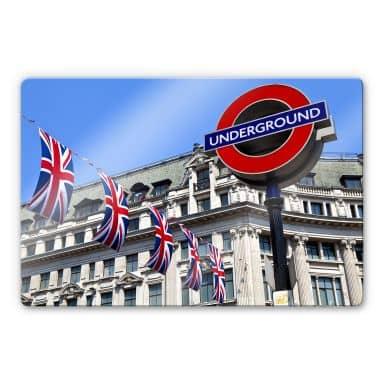 Glasbild London Underground