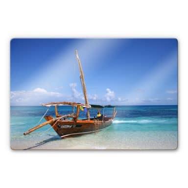 Glasbild Caribbean Sailboat