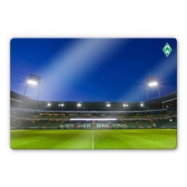Glasbild Werder Bremen Weserstadion Tribüne