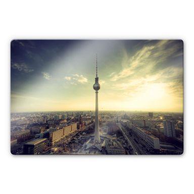 Glasbild Berliner Fernsehturm - Panorama
