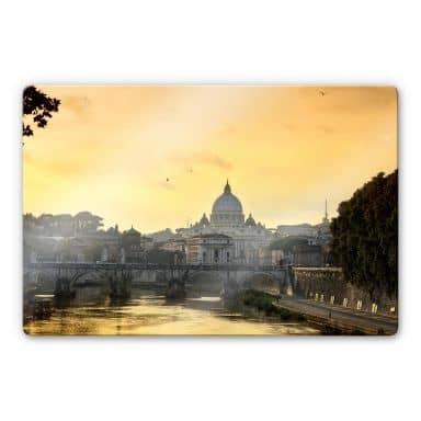 Glasbild Engelsbrücke mit Petersdom
