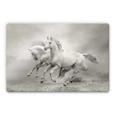Galopping Horses Glass art
