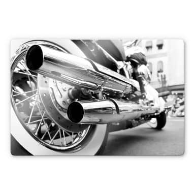Glasbild Motorcycle Power