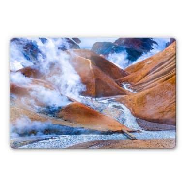 Glasbild Vulkanisches Bergland Islands