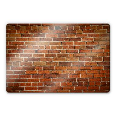 Brick Wall Glass art