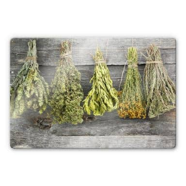 Dried Herbs Glass art