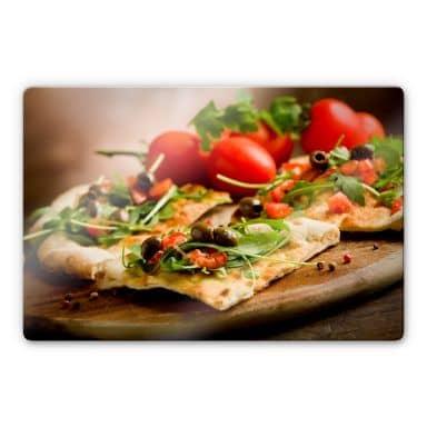 Glasbild Pizza all'Italiana