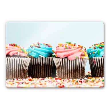 Party Cupcakes Glass art