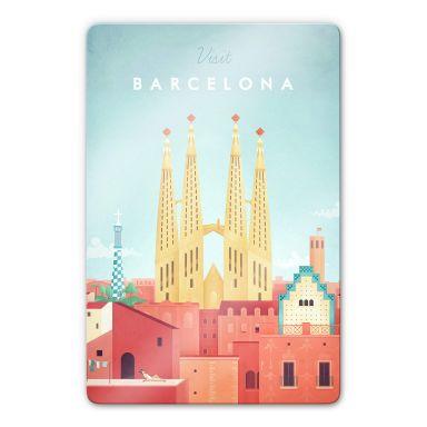 Glasbild Rivers - Barcelona