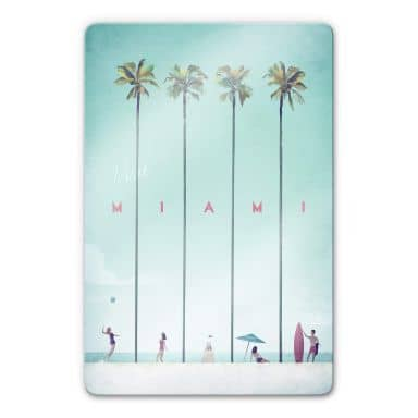 Glasschilderij Rivers - Miami
