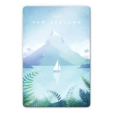 Glasbild Rivers - Neuseeland