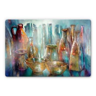 Glasbild Schmucker - Zwei goldene Schalen