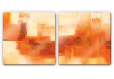 Glasbild Schüßler - Cosmic Connection (2-teilig)
