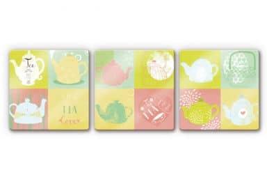 Glass Print Loske - Tea Time (3 parts)
