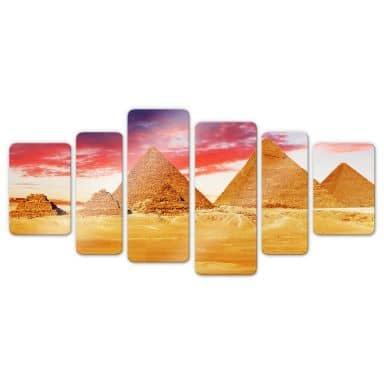 The Pyramids of Giza Glass art (6 parts)
