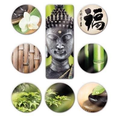Glasbild Asian Spa Set (8-teilig)