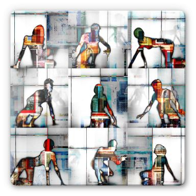 Glass Print Shrayer - Body Language 56