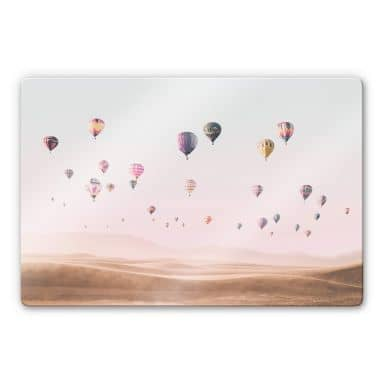 Glass Print Sisi & Seb - Hot Air Balloons