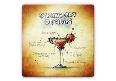 Glasbild Strawberry Daiquiri - quadratisch