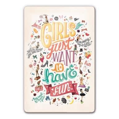 Glasbild Tohmé - Girls just wann have fun