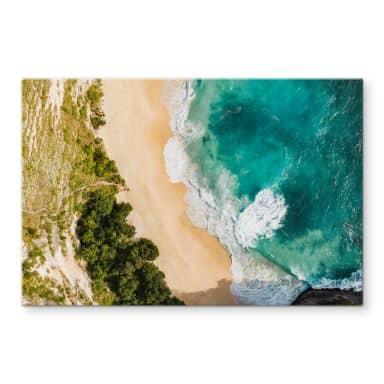 Glasbild Colombo - Strandblick von oben