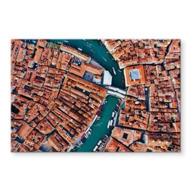 Tableau sur verre Colombo - Venise vue du ciel