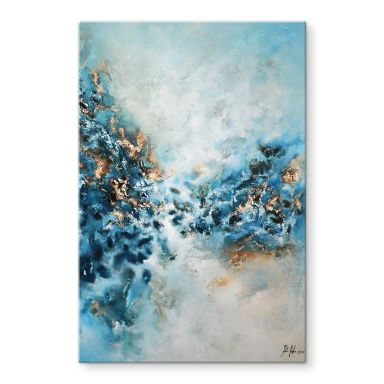 Glasschilderij Fedrau - Blue Wonder