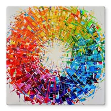 Glasbild Fedrau - Farbkreis - Quadratisch