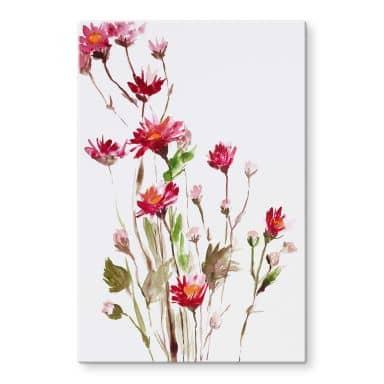Glasbild Illustrierte Wildblume