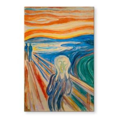 Glasschilderij Munch - de Schreeuw