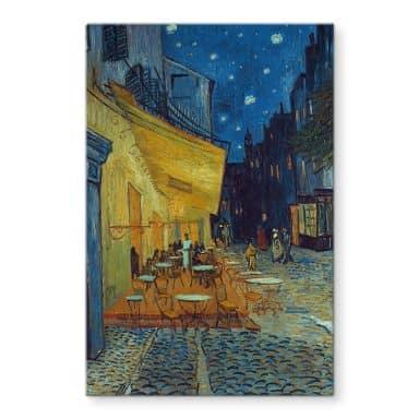 Glasbild van Gogh - Café-Terrasse am Abend