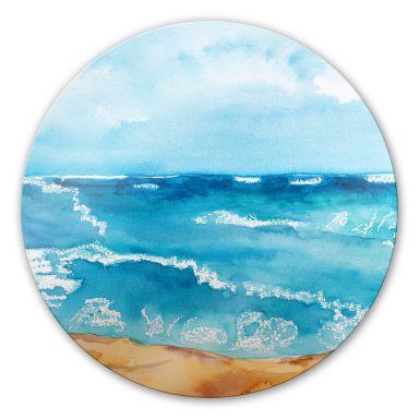 Glasbild Toetzke - Meeresrausch - rund