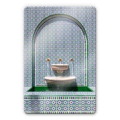Glasbild Colombo - Brunnen in der Alawi Moschee im Oman