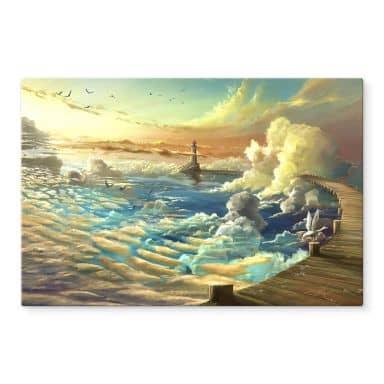 Glasbild aerroscape - Am Ufer des Himmels