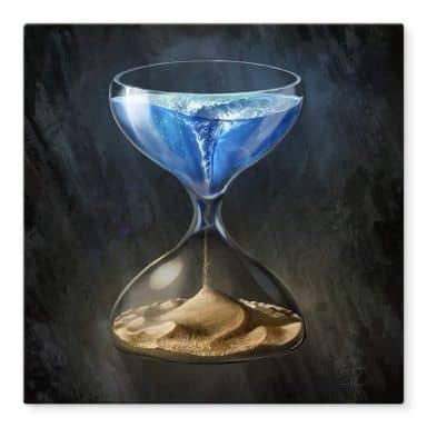 Glasbild aerroscape - Die Zeit läuft ab - Quadratisch
