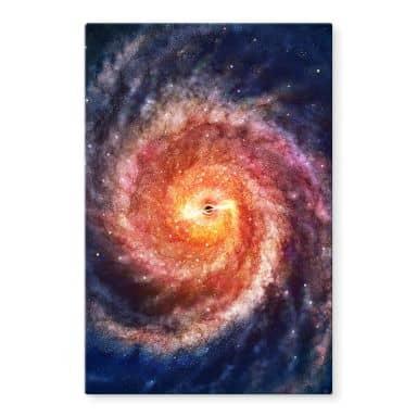 Glasbild Aerroscape - Schwarzes Loch