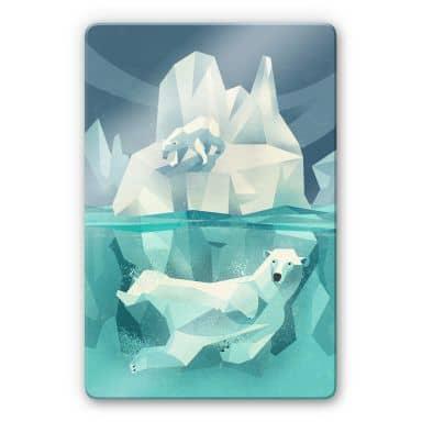 Glasschilderij Braun - Ijsberen