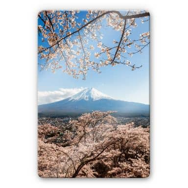 Glasbild Colombo - Mount Fuji in Japan