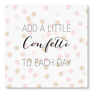 Glasbild Confetti & Cream - Add a little confetti