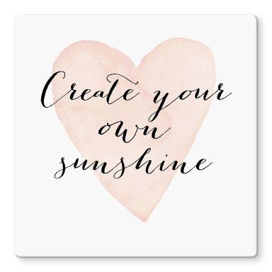 Glasbild Confetti & Cream - Create your own sunshine