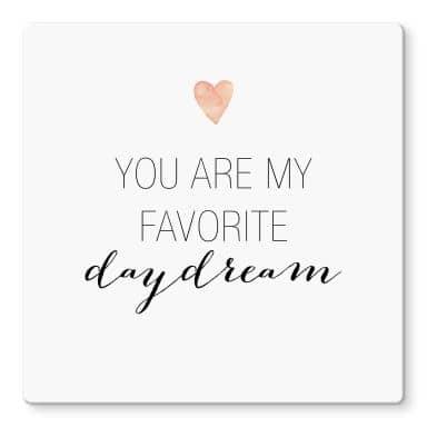 Glasbild Confetti & Cream - You are my favorite daydream