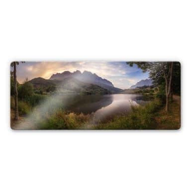 Glasbild Cuadrado - Paradise Pond - Panorama