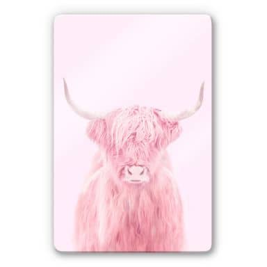 Glass Print Fuentes - Highland Cow