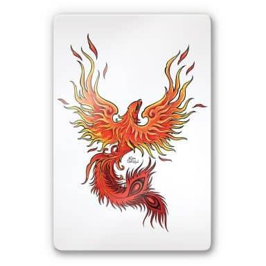 Glasbild LA Ink Phoenix