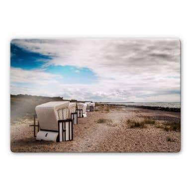 Glasbild Strandkörbe auf Hiddensee